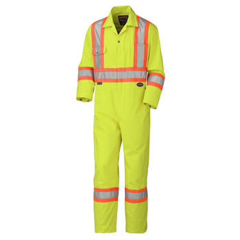 Pioneer 5512T Pioneer Safety Coveralls - Poly/Cotton - Hi-Viz Yellow/Green (Tall) | Safetywear.ca