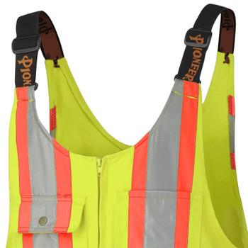 Yellow/Green - 6616T Hi-Viz Safety Overalls - Poly/Cotton | Safetywear.ca