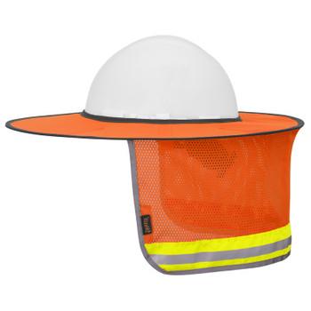 Pioneer 261 Hard Hat foldable Sun Shade - Hi-VIz Orange | Safetywear.ca