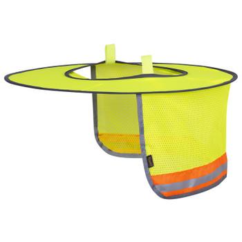 Orange - 263 Pioneer Hard Hat Foldable Sun Shade | Safetywear.ca