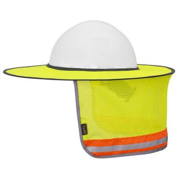 Pioneer 263 Hard Hat Foldable Sun Shade - Hi-Viz Yellow | Safetywear.ca