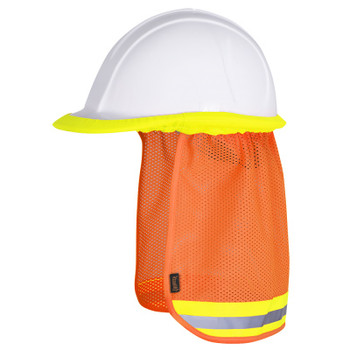 Orange - 292 Pioneer Hard Hat Mesh Sun Shade | Safetywear.ca
