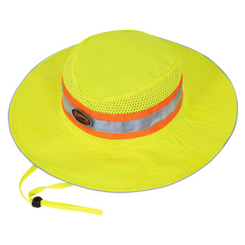 Yellow/Green - 279 Pioneer Hi-Viz Ranger's Hat With Strap | Safetywear.ca