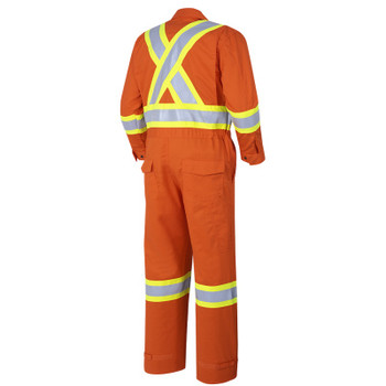 Pioneer 7702T FR-Tech™ Flame Resistant 7 oz Hi-Viz Safety Coverall - Hi-Viz Orange (Tall) | Safetywear.ca
