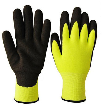 Hi-Viz Yellow/Green - Double Nitrile Seamless Knit Ice Grip Glove | Safetywear.ca