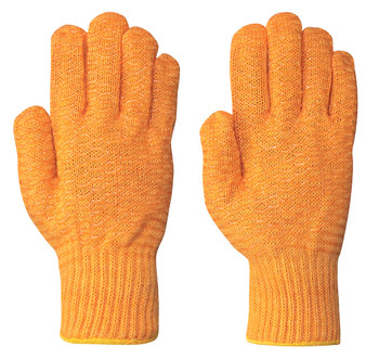 Orange 544 Seamless Knit Criss-Cross Glove