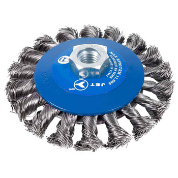"554359 4-1/2"" Knot Twisted Conical Brush for Stainless Steel 