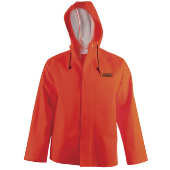 J30 345H FL SNAPPER® Waterproof Hooded Jackets - PVC Coated Poly/Cotton | Safetywear.ca