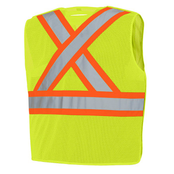 Pioneer 598P Tear-Away Mesh Safety Vest - Hi-Viz Yellow/Green   Safetywear.ca