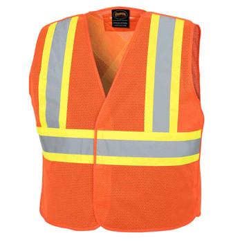 Pioneer 597P Tear-Away Mesh Safety Vest - Hi-Viz Orange   Safetywear.ca