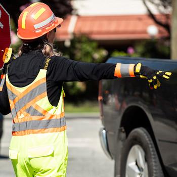 Pioneer 140A Adjustable Reflective Arm Bands - Hi-Viz Orange (Pair) | Safetywear.ca