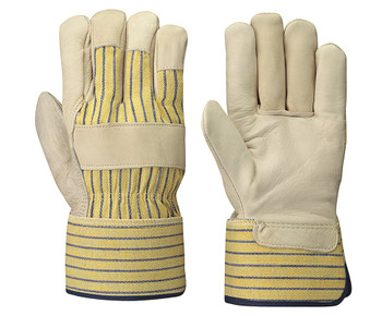 Beige/Yellow Stripe Fitter's Cowgrain Glove