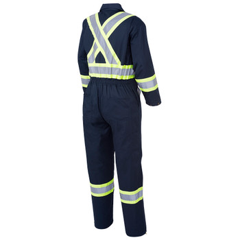 Pioneer 516T Ploy/Cotton Safety Coveralls with Boot Access Zippers - Navy (Tall) | Safetywear.ca