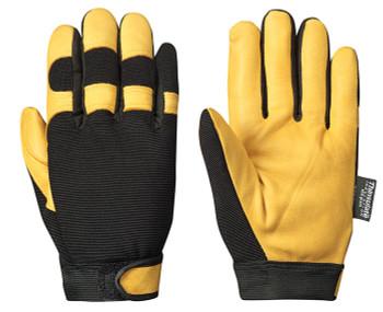 Black/Yellow Mechanics Style Ergonomic Glove