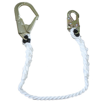 "LAN-1242-4 Restraint Lanyard - 5/8"" Rope - Snap & Form Hooks - 4' (1.2 M) | Safetywear.ca"