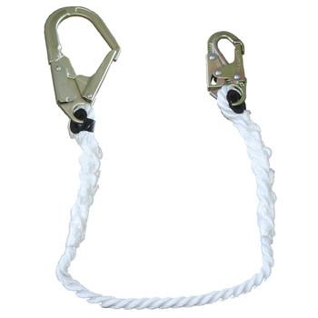 "LAN-1242-6 Restraint Lanyard - 5/8"" Rope - Snap & Form Hooks - 6' (1.8 M) | Safetywear.ca"