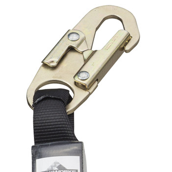 SA-4500-6 E4 Shock Absorbing. Lanyard -SP- Single Leg - GALV. Cable - Snap Hooks - 6' (1.8 M) | Safetywear.ca