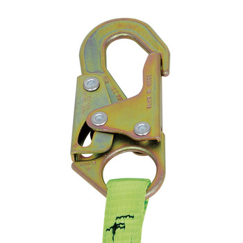 SA-3405-6 E4 Shock Absorbing Lanyard -SP- Single Leg - Snap Hooks & Tie Back - 6' (1.8 M) | Safetywear.ca