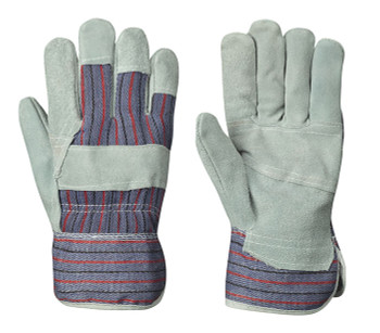 Grey/Red 834 Fitter's Cowsplit Glove