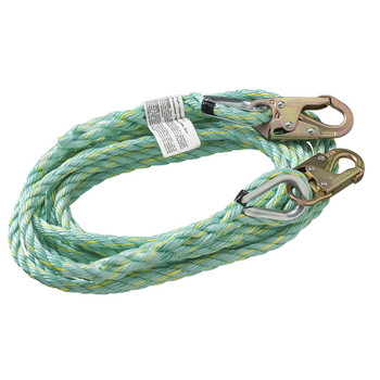 VL-1122-50 Vertical Lifeline - Snap Hooks - 50' (15.2 M) | Safetywear.ca