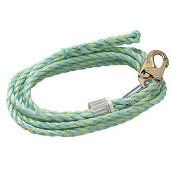 VL-1125-50 Vertical Lifeline - Snap Hook & Back Splice - 50' (15.2 M) | Safetywear.ca