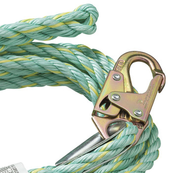 VL-1125-50 Vertical Lifeline - Snap Hook & Back Splice - 50' (15.2 M)| Safetywear.ca
