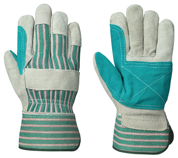 Grey/Green 845 Fitter's Cowsplit Glove