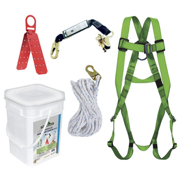 RK4-50 Compl. Roofer's Kit - Reusable Brckt - ADP Rope Grab - SP Lanyard - 50' (15.2 M) | Safetywear.ca