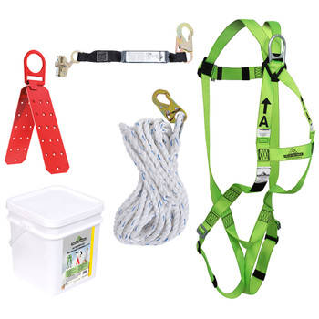 RK4-25 Compl. Roofer's Kit - Reusable Brckt - ADP Rope Grab - SP Lanyard - 25' (7.6 M) | Safetywear.ca