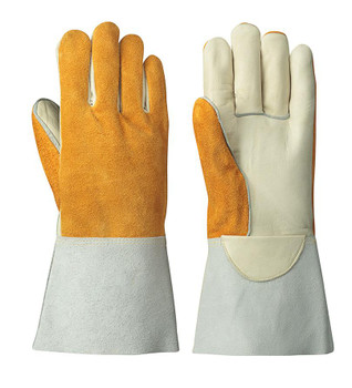 Beige/Yellow 542 Welder's Cowgrain Glove