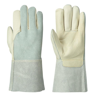 Beige/Grey 5441 Welder's Cowgrain Glove