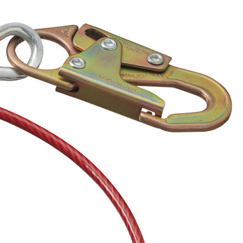 AS-21210-6 Cable Anchor Sling - Snap Hook & O-Ring - 6' (1.8 M) |  Safetywear.ca