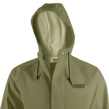 J34 345H Snapper® Waterproof Hooded Jacket - PVC Coated Poly/Cotton | Safetywear.ca