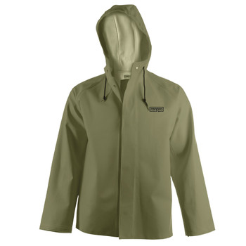 J34 345H Snapper® Waterproof Hooded Jacket - PVC Coated Poly/Cotton | Safetywear.ca