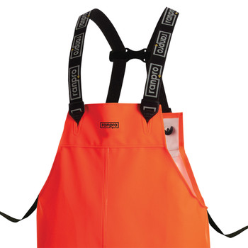 P30 060 FL Snapper® Waterproof Rain Bib Pants - PVC Coated Poly/Cotton | Safetywear.ca