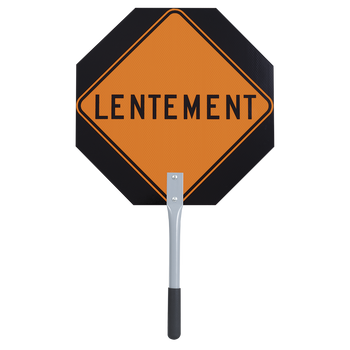 "467 Traffic Arrêt/Lentement Paddle 12"" X 12"" 