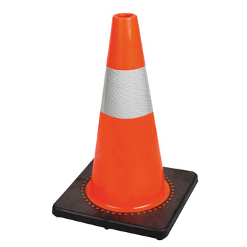 "183N 28"" Premium PVC Flexible Safety Cone - 4"" Band 