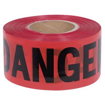 389 Danger Tape - 1,000' - Black on Red Background | Safetywear.ca