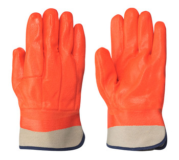 Orange  846 PVC Foam Lined Glove