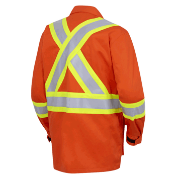 Hi-Viz Orange - Back, 7773 FR-TECH® Flame Resistant Safety Jacket | Safetywear.ca