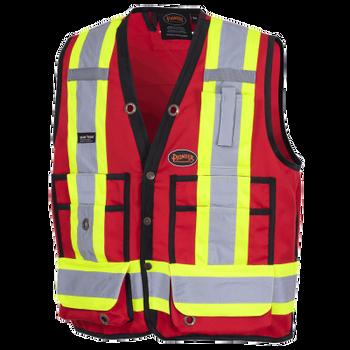 Pioneer 6683 Surveyor's Safety Vest - Hi-Viz Red   Safetywear.ca
