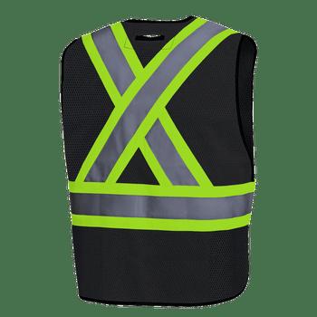 Black - Back, 6927BK Hi-Viz All Purpose Vest - O/S | Safetywear.ca