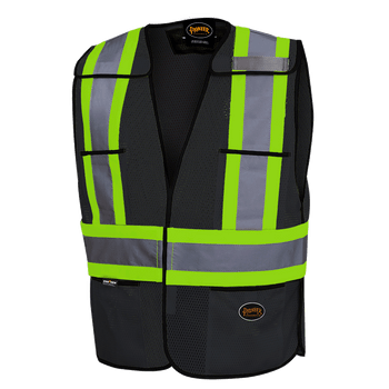 Black - 6927BK Hi-Viz All Purpose Vest - O/S | Safetywear.ca
