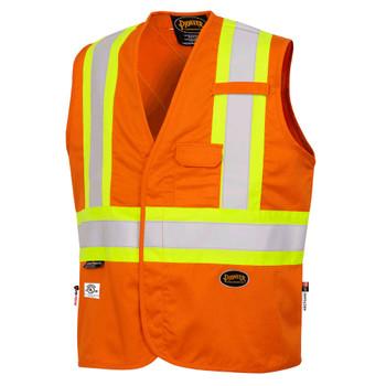 Pioneer 7728 FR-Tech® 88/12 Flame Resistant Safety Vest - Hi-Viz Orange | Safetywear.ca