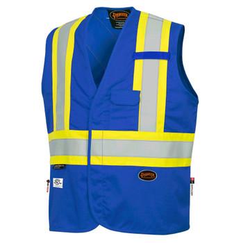 Pioneer 7730 FR-Tech® Flame Resistant Safety Vest - Hi-Viz Royal Blue | Safetywear.ca