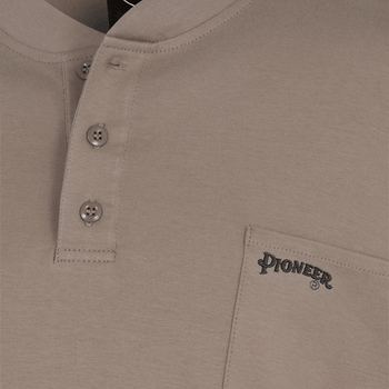 Beige - 331 100% Cotton Fire Resistance Interlock 7oz. Henley Shirt | Safetywear.ca