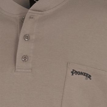 Pioneer 331 Flame Resistant Interlock 100% Cotton Henley Shirt - Beige | Safetywear.ca