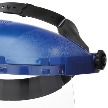 S39110 Single Crown Face Shield with Window and Ratcheting Headgear - Uncoated | Safetywear.ca