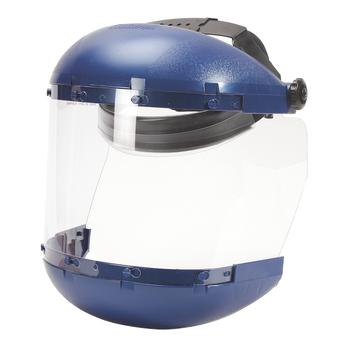 S38110 Dual Grown Face Shield with Ratcheting Headgear - Clear Tint - Uncoated | Safetywear.ca