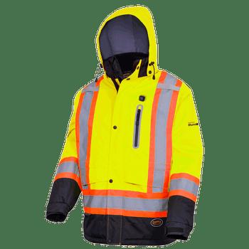 Hi-Viz Yellow - 5408 Hi-Viz Heated Insulated Safety Jacket - Hi-Viz Yellow   Safetywear.ca